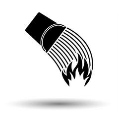 Fire bucket icon vector