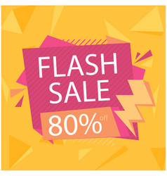 Flash sale 80 off crystal orange background vector