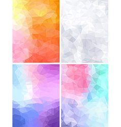 Four geometric retro backgrounds vector image
