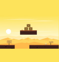 Game background on desert with box vector