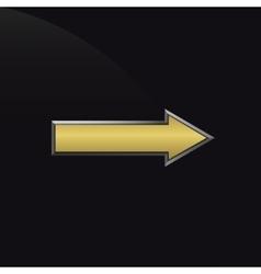 Golden metal arrow vector image