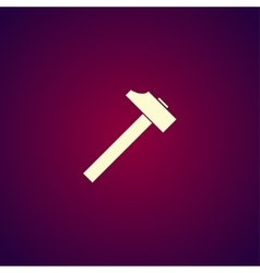 hammer icon Flat design style vector image vector image