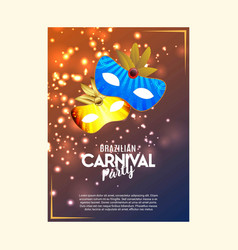 happy brazilian carnival day colorful shiny vector image