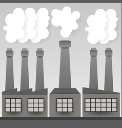 industrial factory or factory vector image
