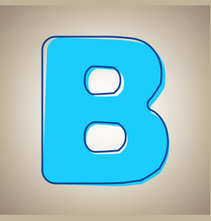 Letter b sign design template element sky vector