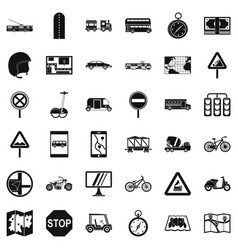 location mark icons set simple style vector image
