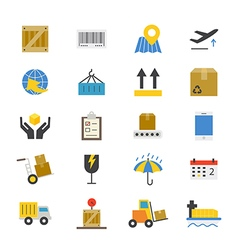 Logistics Flat Icons color vector