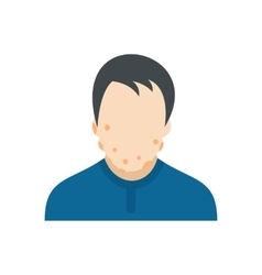 Man with bee stings icon vector