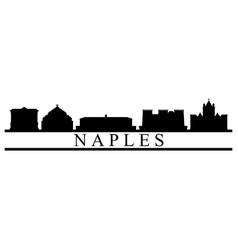 naples skyline vector image