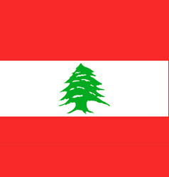 national flag of lebanese republic vector image