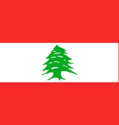 National flag of lebanese republic vector