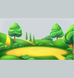 Nature landscape park isolated 3d panorama vector