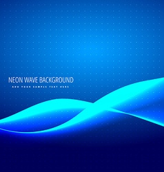 Neon blue wave vector