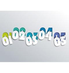 Numbering Line Design vector