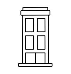 Outline building structure architecture apartment vector
