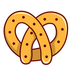 pretzel icon cartoon style vector image