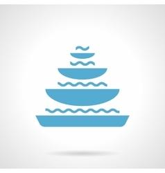 Pyramidal fountain glyph style icon vector