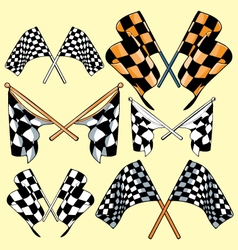 Race flags vector