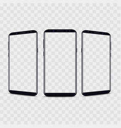 realistic smartphone from different views vector image