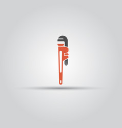 red pipe wrench isolated colored icon vector image