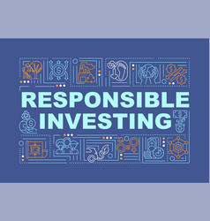 Responsible investing word concepts banner vector