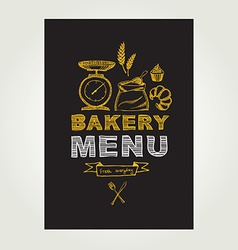 Restaurant menu Bakery and cafe Template design vector image