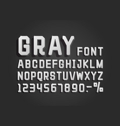 retro font gray vintage light sign set vector image