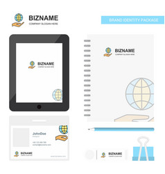 Safe world business logo tab app diary pvc vector