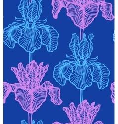 seamless dark iris background vector image vector image