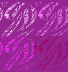 set of patterns from shades of lilac feathers and vector image