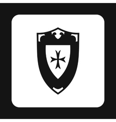 Shield icon simple style vector