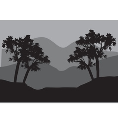 Silhouettes of couple tree vector image