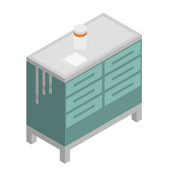 Surgery stand icon isometric style vector
