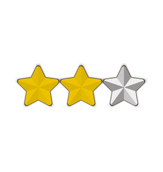 three stars passed level white background eps 10 vector image