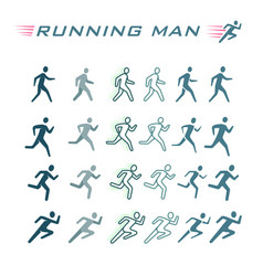 time-lapse silhouette of a running man vector image