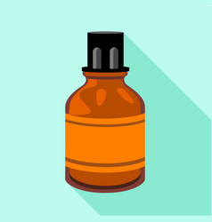 vial medical icon flat style vector image