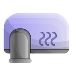 Wall hand dryer icon cartoon style vector