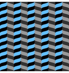 Wavy zig zag seamless pattern blue gray and black vector