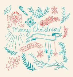 winter holidays natural hand drawn template vector image