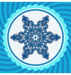 Winter New Year Snowflake Design vector image