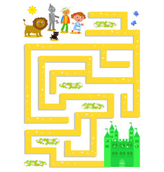 wizard of oz labyrinth help dorothy to find vector image