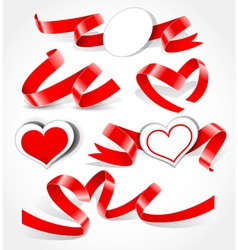 elements to valentine s day vector image vector image