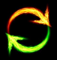 Fire circular arrows vector image