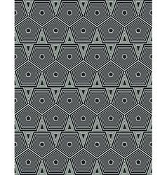 geometrical hexagons vector image vector image