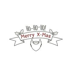 Hipster christmas label badge logo set vector