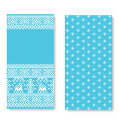Invitation card with folk pattern vector