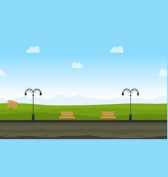 landscape of garden background for game vector image
