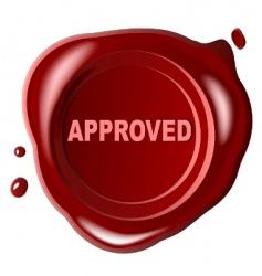red wax seal vector image vector image