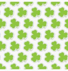 seamless - green shamrocks vector image vector image