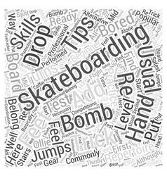 skateboarding trick tip Word Cloud Concept vector image